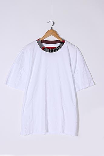 T-shirt manches courtes blanc HUGO BOSS pour homme