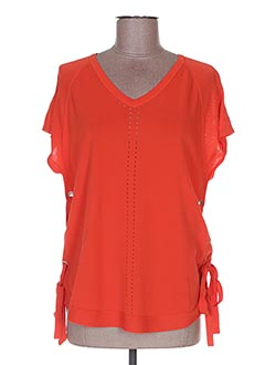 T-shirt manches courtes orange ET COMPAGNIE pour femme