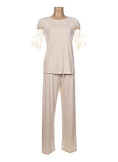 Pyjama beige MARI JO pour femme