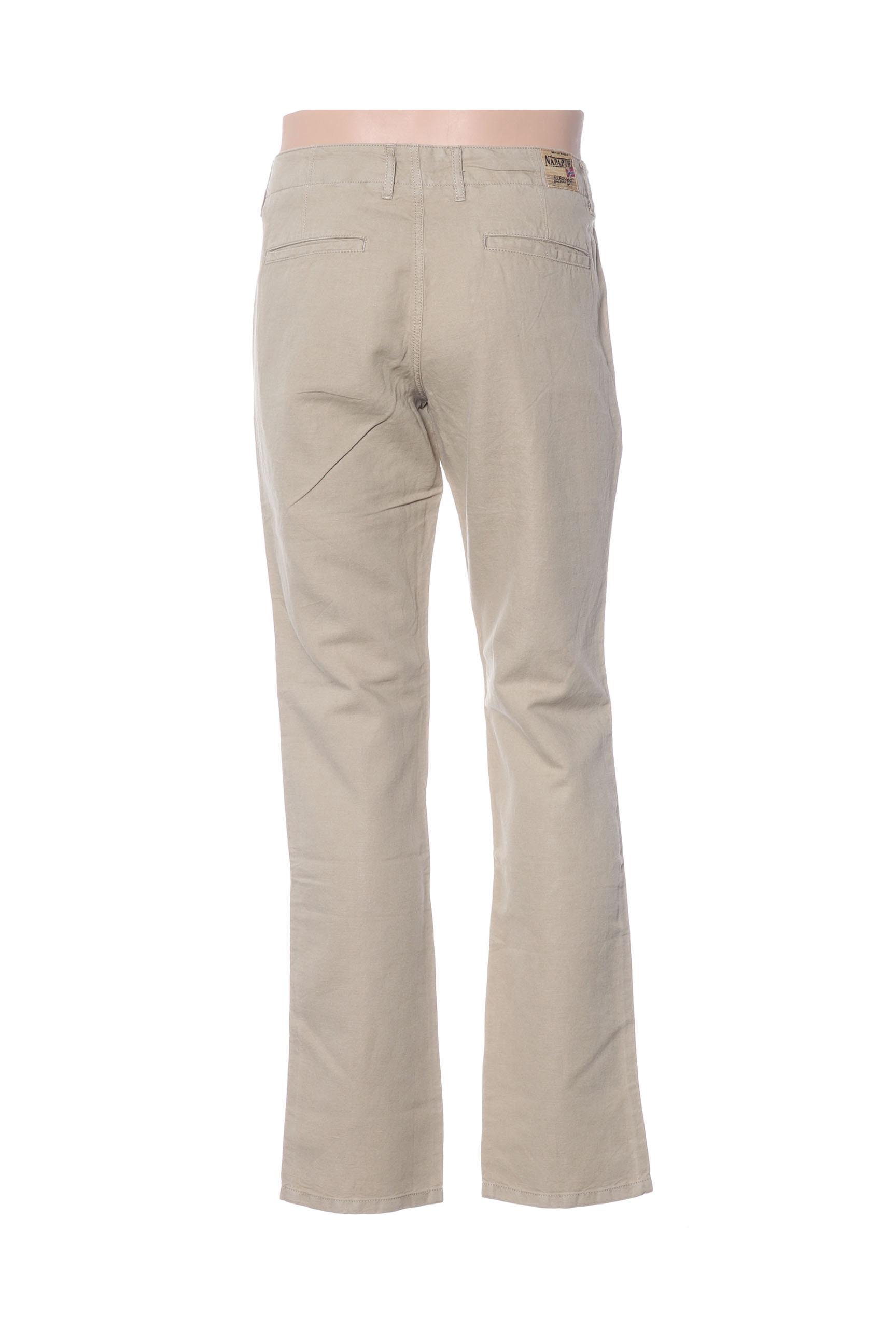 Napapijri Pantalons Decontractes Homme De Couleur Vert En Soldes Pas Cher 1409018-vert00