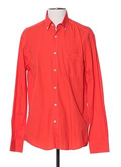 Chemise manches longues orange CALAMAR pour homme