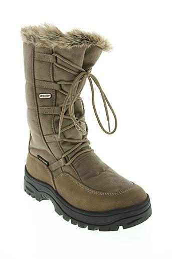 Bottines/Boots beige ATIBA pour femme