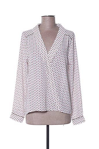Blouse manches longues blanc ANDY & LUCY pour femme