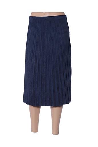 Jupe mi-longue bleu ANDY & LUCY pour femme