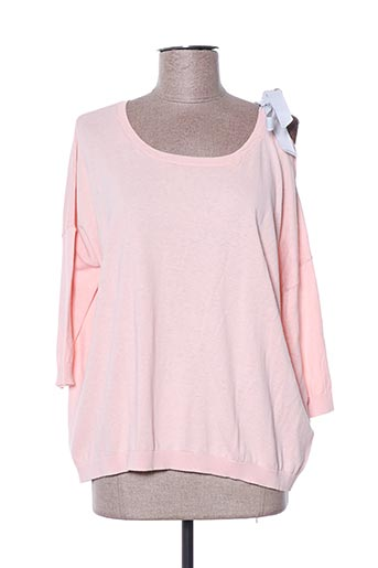 Pull col rond rose ABSOLUT pour femme