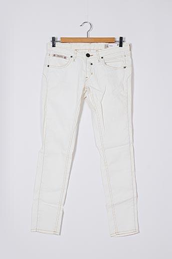 Pantalon casual blanc HERRLICHER pour femme