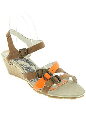 Sandales/Nu pieds orange BUGGY pour femme
