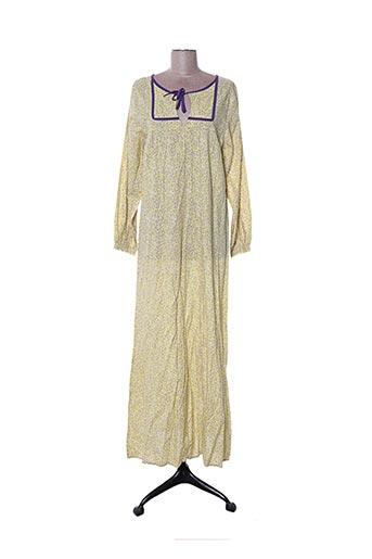 Robe longue jaune CH.IND. pour femme