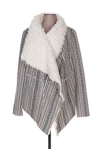 Manteau court gris AMERICAN RETRO pour femme