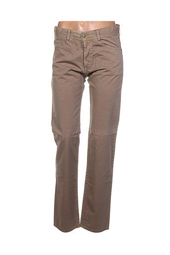 Pantalon casual beige ACQUAVERDE pour femme