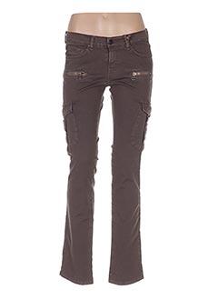 Pantalon casual marron DENIMOOD pour femme