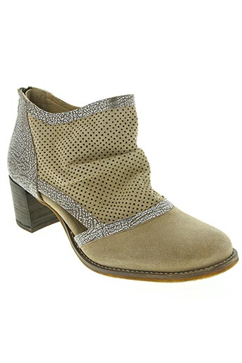 Bottines/Boots beige CASTA pour femme