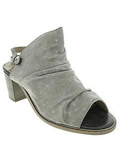 Sandales/Nu pieds gris DKODE pour femme