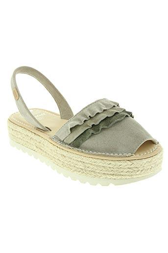 Sandales/Nu pieds gris CASTELL MENORCA pour femme