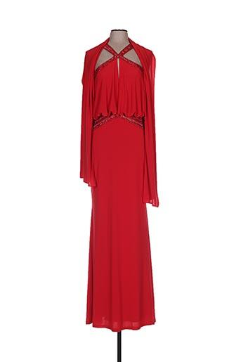 Robe longue rouge FASHION NEW YORK pour femme