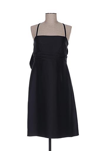 Robe mi-longue noir CARAMELO pour femme