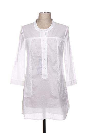 Tunique manches longues blanc CARAMELO pour femme