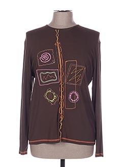 T-shirt manches longues marron JEAN DELFIN pour femme