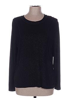 T-shirt manches longues noir JEAN DELFIN pour femme