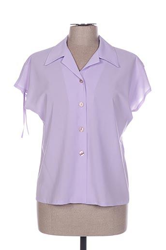 Chemisier manches courtes violet CHRISTIAN MICHEL pour femme