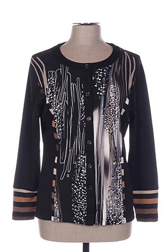 Veste casual noir FRANCOISE DE FRANCE pour femme