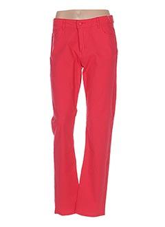 Pantalon casual rouge JEAN DELFIN pour femme