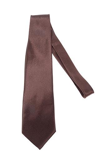Cravate marron ISADOR pour homme