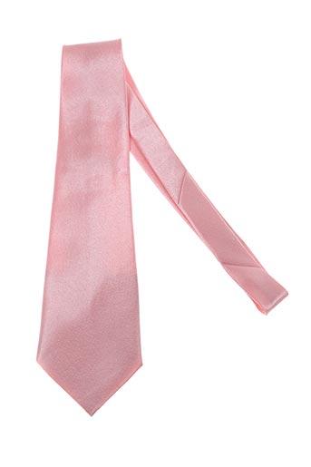 Cravate rose ISADOR pour homme