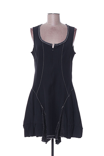 Robe mi-longue noir DINOTZO pour femme