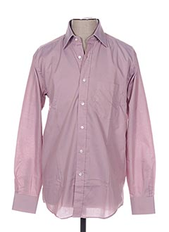 Chemise manches longues rose PIERRE CLARENCE pour homme