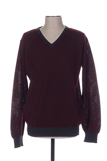 Pull col V rouge BERAC pour homme