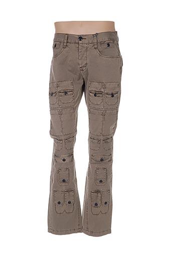 Pantalon casual beige DEEPEND pour homme