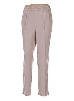 Pantalon casual beige AN' GE pour femme
