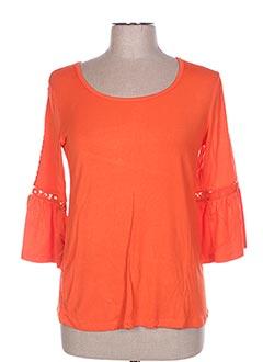 Blouse manches longues orange ET COMPAGNIE pour femme