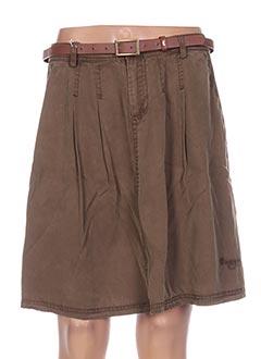 Jupe courte marron ET COMPAGNIE pour femme