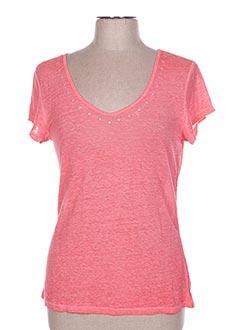 T-shirt manches courtes rose ET COMPAGNIE pour femme