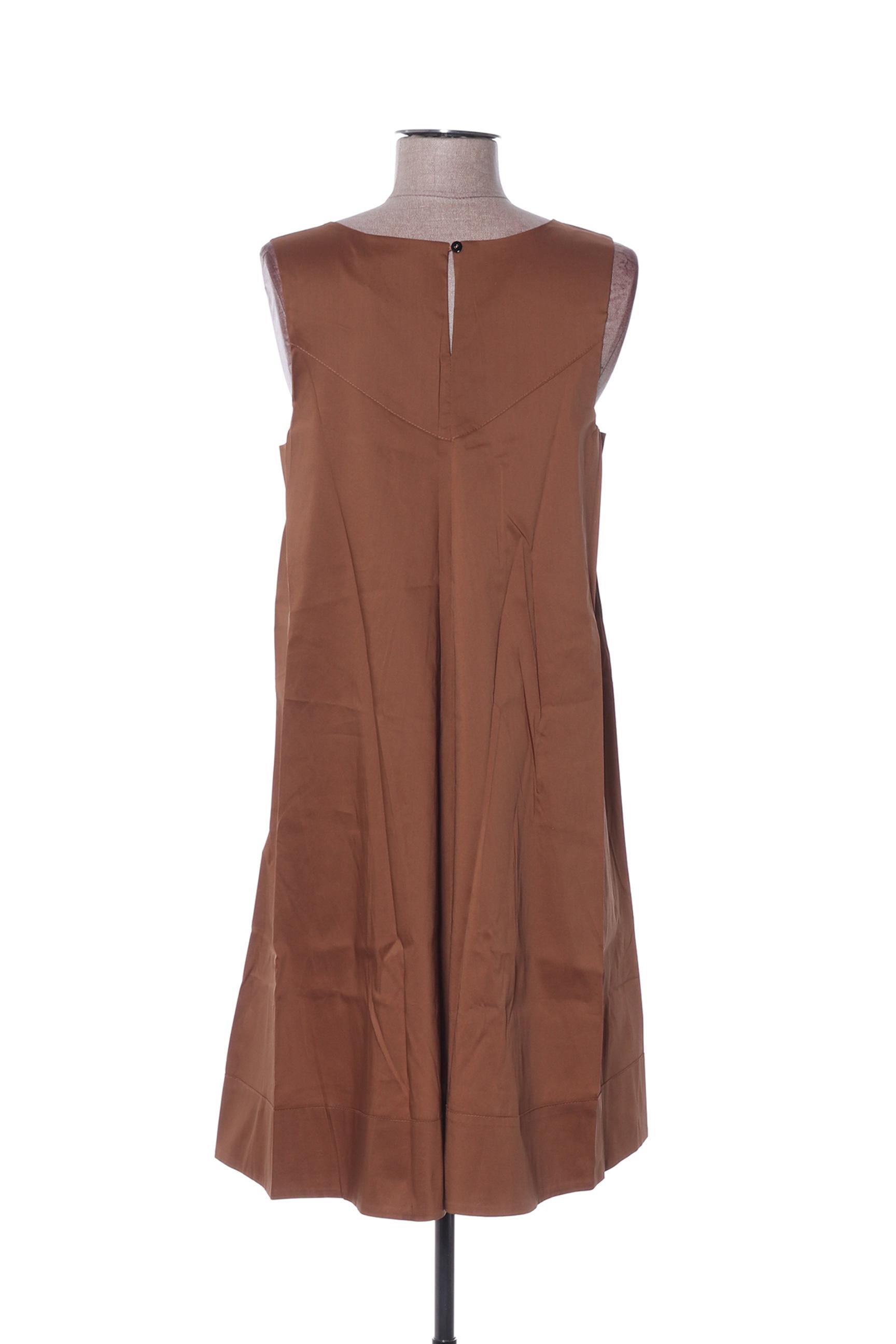 La Fee Maraboutee Robes Mi Longues Femme De Couleur Marron En Soldes Pas Cher 1397378-marron
