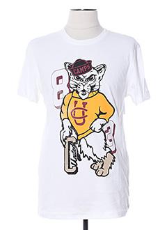 T-shirt manches courtes blanc CAMPS UNITED pour homme
