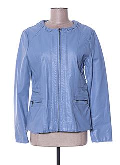 Veste simili cuir bleu DIANE LAURY pour femme