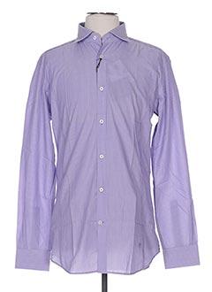 Chemise manches longues violet HOMINI EMERITO pour homme