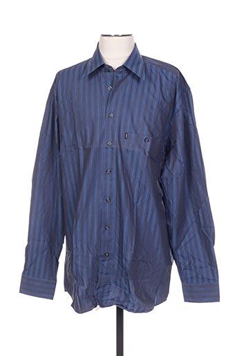 Chemise manches longues bleu DORNBUSCH pour homme