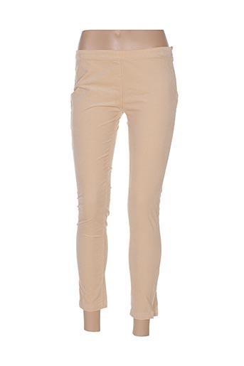 Pantalon casual beige ORIGINAL MARINES pour femme