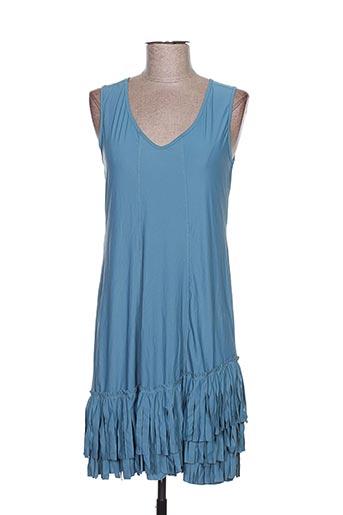 Robe mi-longue bleu ARELINE pour femme