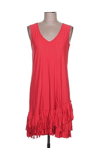Robe mi-longue rouge ARELINE pour femme