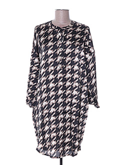 Robe mi-longue noir ARELINE pour femme