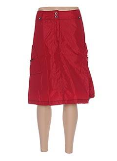 Jupe mi-longue rouge ARELINE pour femme