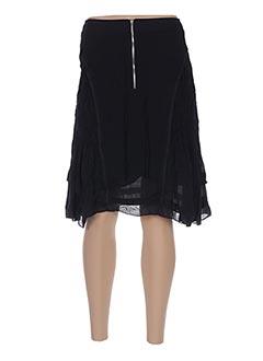Jupe mi-longue noir ARELINE pour femme