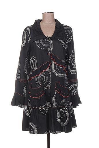 Manteau long noir ALL BEAUTIFUL pour femme