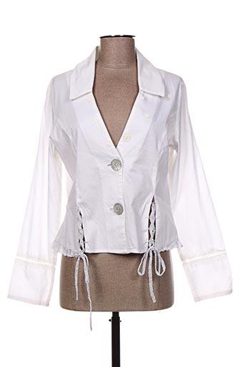 Veste casual blanc ALICE ET BARNABE pour femme