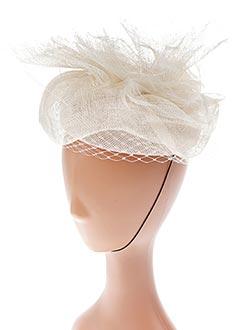 Chapeau beige E.WERLE pour femme